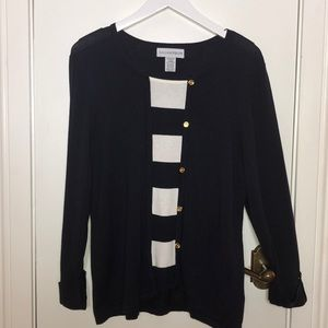 SagHarbor Navy blue/white sweater size XLg